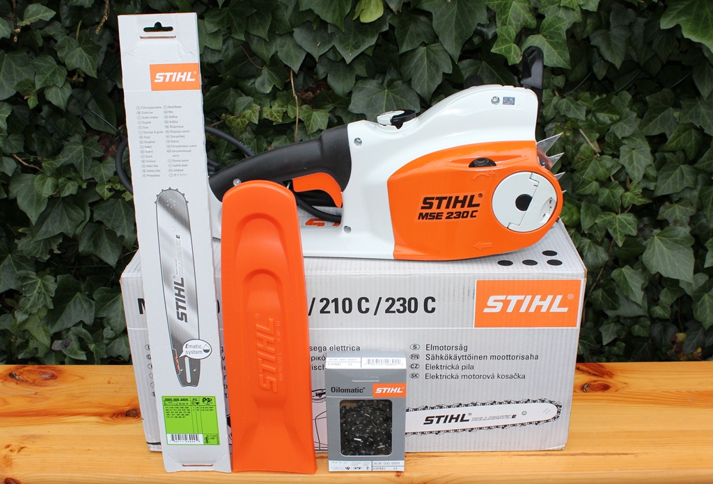 stihl mse 230 c bq elektro motors ge schnittl nge 35 40cm kettens ge elektros ge ebay. Black Bedroom Furniture Sets. Home Design Ideas